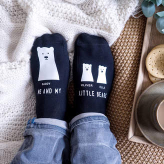 Sparks And Daughters Personalised My Little Bear Socks