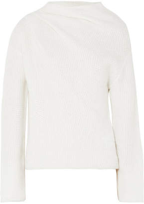 Giorgio Armani Asymmetric Cashmere-blend Sweater - White