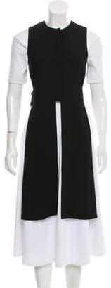 Novis Wool Crepe Open-Side Vest w/ Tags