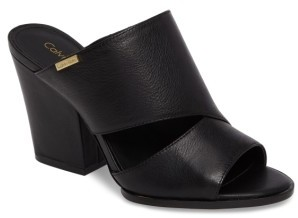 Women's Calvin Klein Wiley Asymmetrical Mule $119.95 thestylecure.com