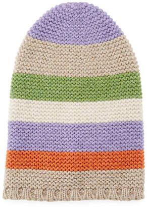 Loro Piana Darlington Colorblock Knit Beanie Hat