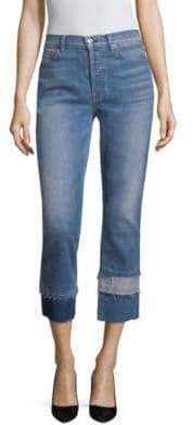 7 For All Mankind Edie Patchwork Crop Jeans