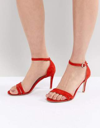 Suncoo Heeled Strappy Sandals in Suede