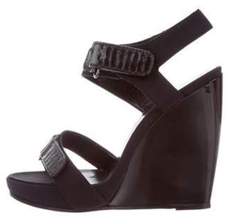 Pierre Hardy Ankle-Strap Wedge Sandals Black Ankle-Strap Wedge Sandals