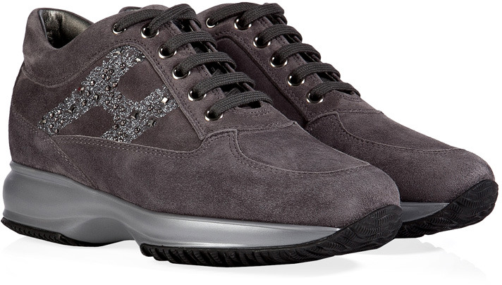 Hogan Suede Interactive Strass Sneakers
