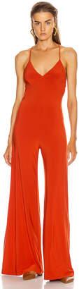 Norma Kamali Low Back Slip Jumpsuit in Cinnamon | FWRD