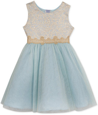 Rare Editions Brocade to Mesh Dress, Toddler & Little Girls (2T-6X) $74 thestylecure.com