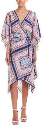 Trina Turk Alannah Silk-Trim Wrap Dress