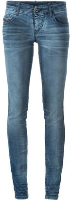 Diesel stonewashed skinny jeans $236.53 thestylecure.com