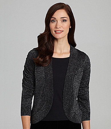 Peter Nygard Petites Metallic Shrug