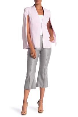 St. John Stretch Wool & Silk Blend Birdseye Capri Pants