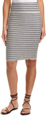 Three Dots French Terry Stripe Pencil Skirt