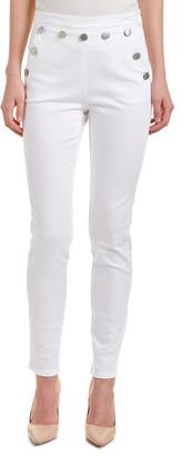 Maje Pradyk Blanc High-Rise Skinny Leg