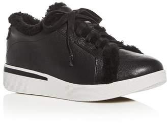 6033970633d Kenneth Cole Gentle Souls by Gentle Souls Women s Haddie Shearling Lace-Up  Platform Sneakers