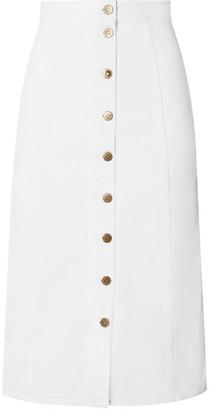 MiH Jeans Panton Denim Midi Skirt - White
