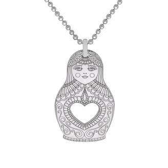 CarterGore - Silver Russian Doll Pendant Necklace