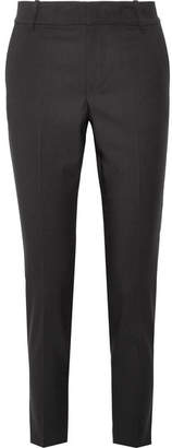 Vince Cropped Wool-blend Tapered Pants - Black