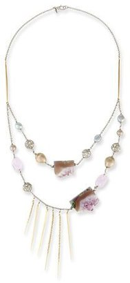 Alexis Bittar Two-Strand Crystal Bib Necklace, Purple $395 thestylecure.com