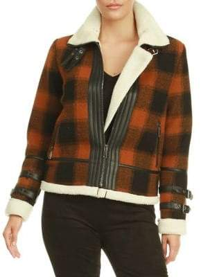 Dex Plaid Sherpa-Lined Jacket
