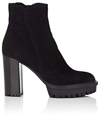 Gianvito Rossi Women's Suede & Shearling Ankle Boots
