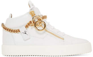 Giuseppe Zanotti White Chain May London High-Top Sneakers