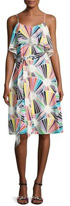 Trina Turk Isabel Sleeveless Geometric Silk Popover Dress, Multicolor $348 thestylecure.com