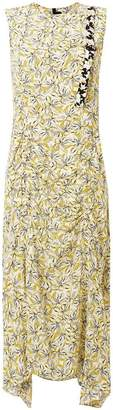 Joseph floral print ruched dress