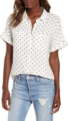 Splendid Backyard Star Textured Cotton Shirt