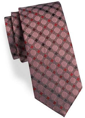 Geoffrey Beene Dot Silk-Blend Tie