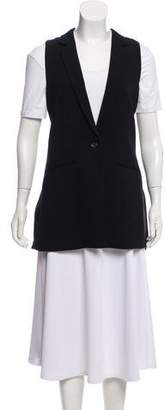 Elizabeth and James Silk-Accented Vest