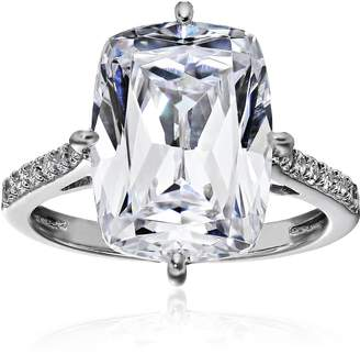 """Swarovski Amazon Collection Platinum Plated Sterling Silver Celebrity """"Kim"""" Ring made with Zirconia, Size 6"""