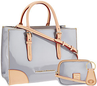As Is Dooney & Bourke Patent Leather Satchel with Shoulder Strap $107.50 thestylecure.com
