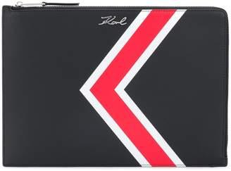 Karl Lagerfeld K stripe clutch