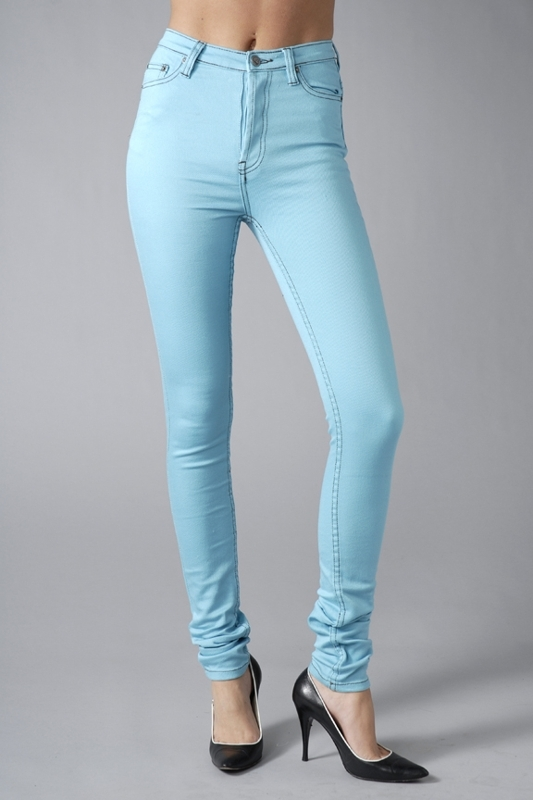 Cheap Monday Skyscraper Skinny Jeans in Overdye Turkos