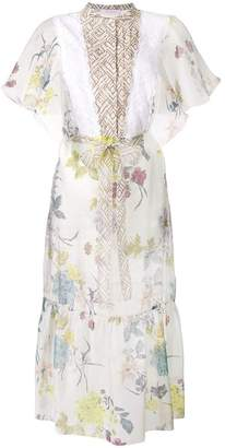 See by Chloe printed flared sleeve dress