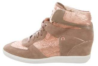 Michael Kors Suede Wedge Sneakers