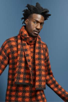French Connenction Mohair Plaid Crew Neck Jumper