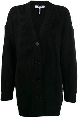 MSGM ribbed knit cardigan