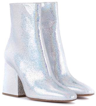 Maison Margiela Metallic leather ankle boots