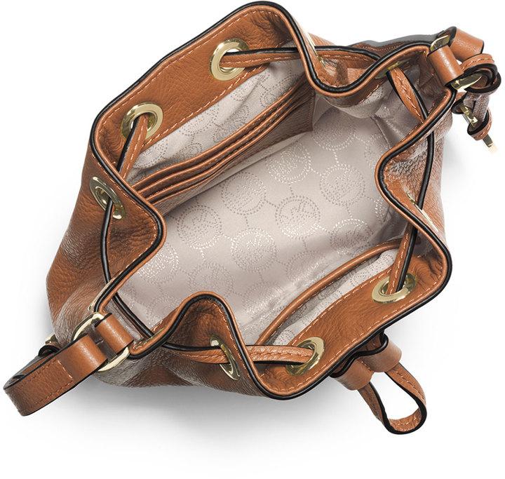 MICHAEL Michael Kors Jules Drawstring Crossbody Bag, Luggage 2