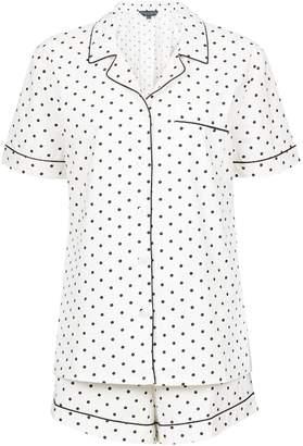 Dorothy Perkins Womens **Maternity White Polka Dot Print Pyjama Set