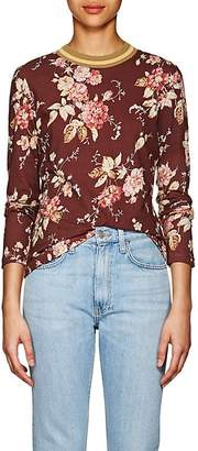 Zimmermann Women's Floral Linen-Cotton T-Shirt