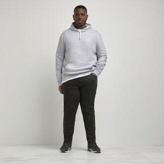 4cf7667d3fe6e4 River Island Mens Big and Tall Black Sid skinny jeans