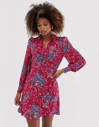 And other stories &  button detail mini dress in paisley print