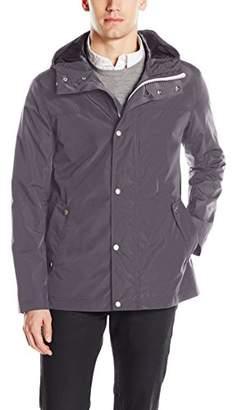 Cole Haan Men's Hooded Rain Jacket