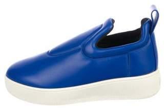 Celine Leather Slip-On Sneakers
