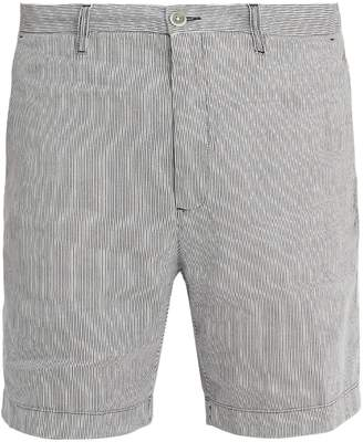 120% Lino 120 LINO Straight-leg striped linen shorts