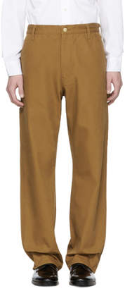 Junya Watanabe Brown Carhartt Edition Canvas Duck Trousers
