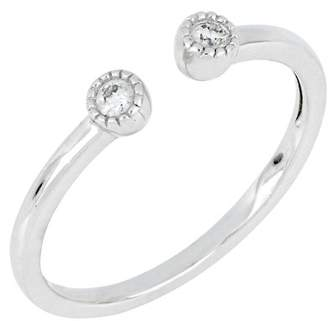 Carriere Sterling Silver Double Diamond Open Ring - 0.08 ctw