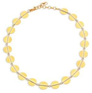 Gurhan Lush Diamond, 24K Yellow Gold& 18K White Gold Necklace